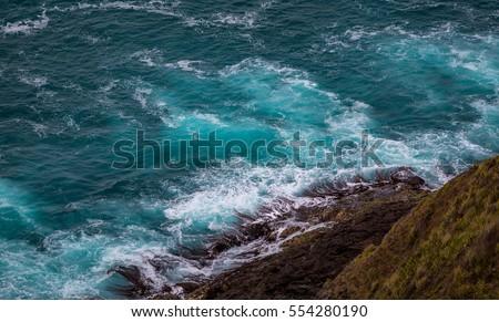 Cape Reinga cliffs,Far North, New Zealand at Dec 2016 #554280190
