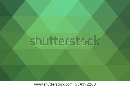Light Green Low poly crystal background. Polygon design pattern. Low poly vector illustration, low polygon background.