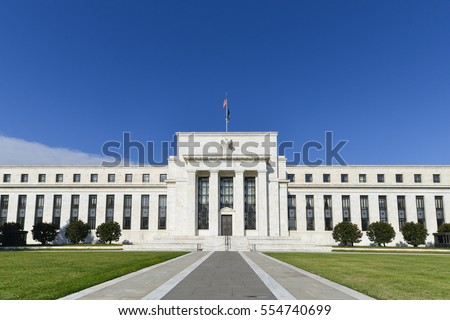 Federal Reserve Building in Washington DC, United States  Royalty-Free Stock Photo #554740699