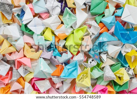 Origami ships (paper boat) background #554748589