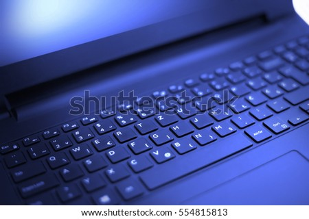 Perspective of the laptop keyboard  #554815813