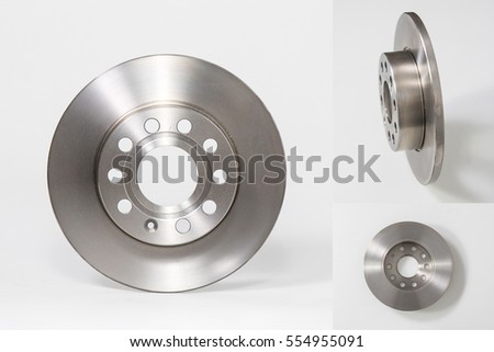 Brake disc collage Royalty-Free Stock Photo #554955091