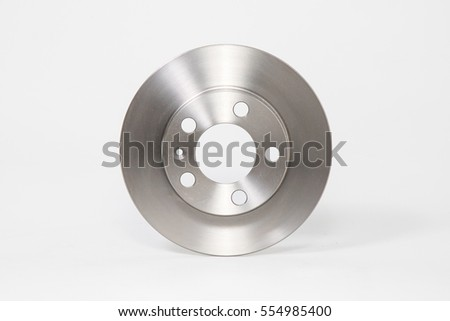 Brake disc car automotive brand new product picture photo Royalty-Free Stock Photo #554985400