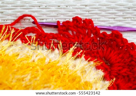 yellow fluffy knitted background #555423142