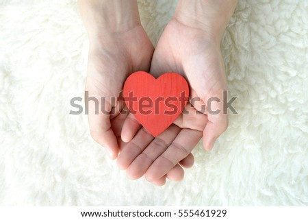 Love concepts, heart in hands #555461929