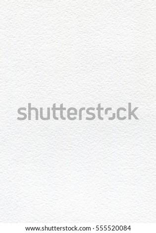 White watercolor paper with texture. Vertical background for painting. Empty white page, textured. Abstract white background. #555520084