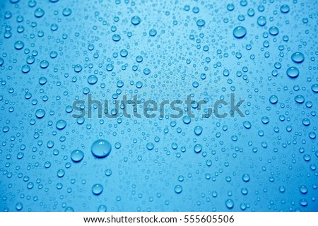 Water Drops On Blue Background. #555605506
