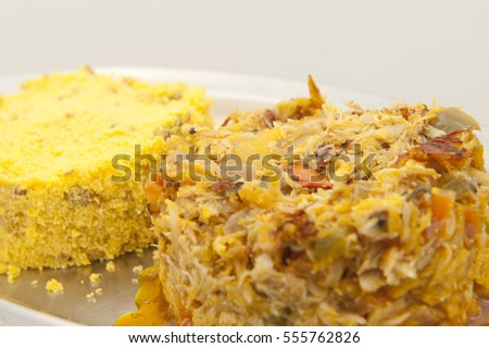 Delicious brazilian crabs (siri) cooked in coconut milk and palm oil, with yucca flour  #555762826
