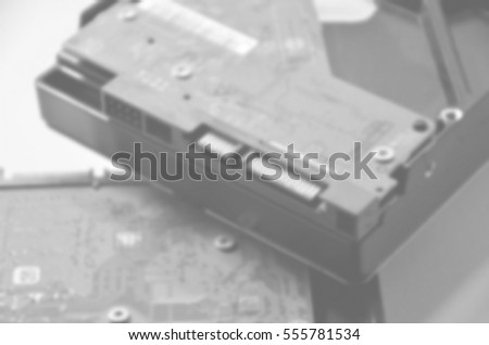 Blurred abstract background of harddisk #555781534