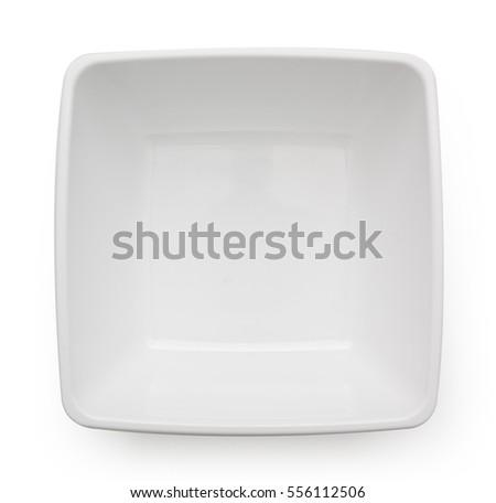 white bowl isolated on white background #556112506