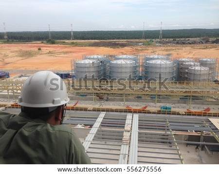 The under construction tank farm at petrochemical plant. #556275556