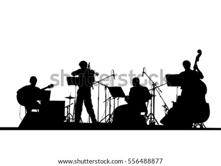 Concert of jazz music on white background #556488877