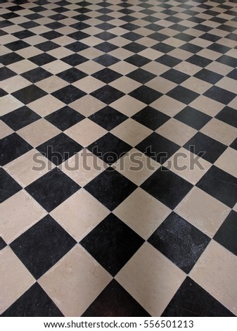 Middle Age checkered floor tiles  #556501213