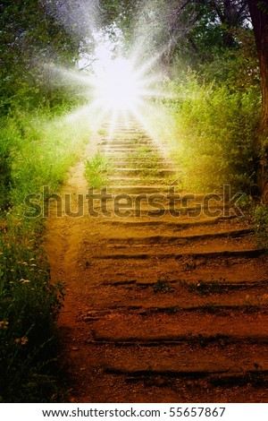 Staircase with sun, way to heaven #55657867