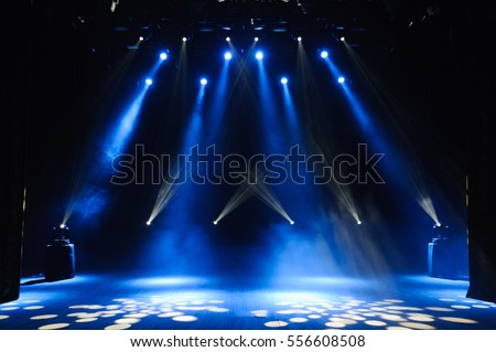 Free stage with lights, lighting devices. #556608508