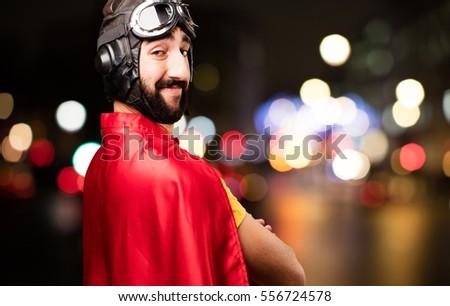 crazy super hero proud pose #556724578