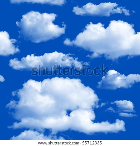 Clouds seamless background - texture pattern for continuous replicate.