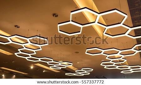 interior modern light in shopping mall #557337772