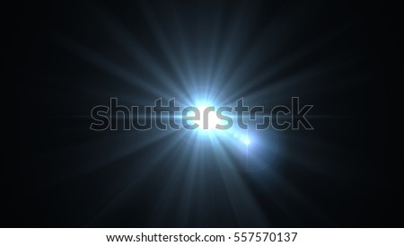 Digital lens flare in black background.Beautiful rays of light. #557570137