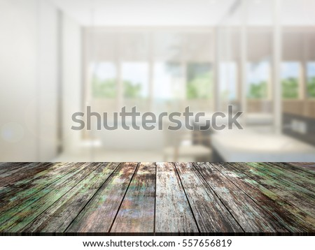 closeup top wood table with Blur Background #557656819