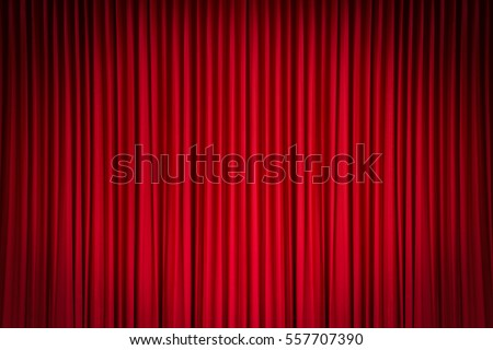 Red Stage Curtain Royalty-Free Stock Photo #557707390