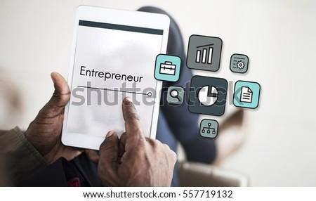 Business Venture Target Goals Expansion Entrepreneur #557719132