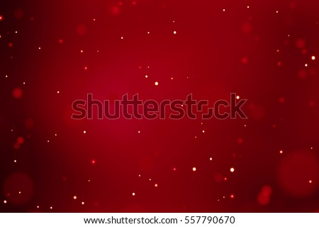 abstract christmas gradient red background with bokeh flowing, festive holiday happy new year concept