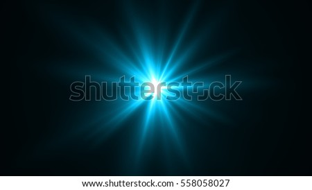 background of blue rays shining and sparkling #558058027