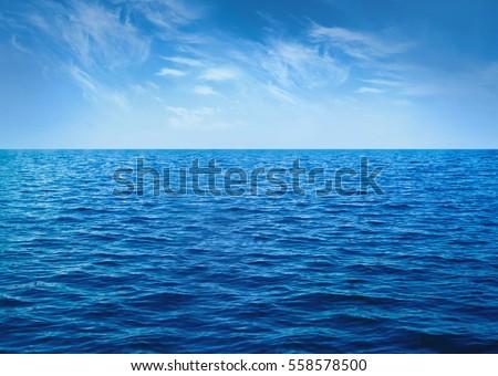 Water cloud horizon background #558578500