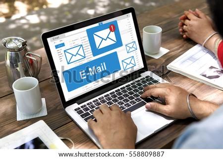 E-mail Communication Data Internet Message Concept #558809887