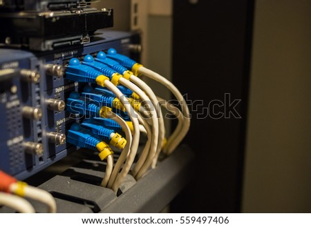 old network cables connected in CCTV #559497406