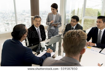 Business Discussion Meeting Presentation Briefing #559587850