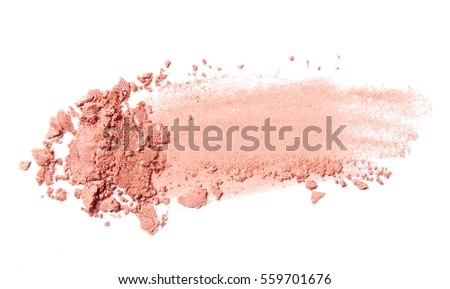 pink coral eyeshadow and blush trace isolated on white background  #559701676
