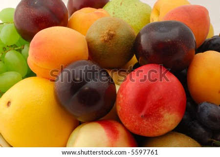 Many different colorful fruits #5597761