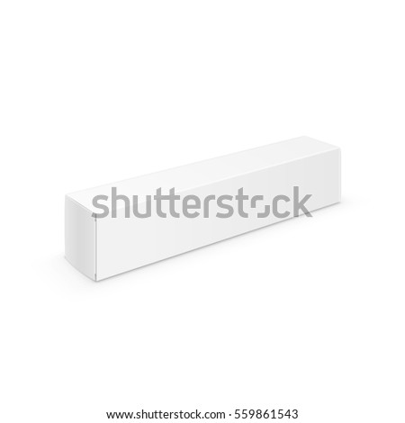 White Blank Packaging Package Pack Toothpaste Box Design Template Isolated on Background 3D Illustration #559861543