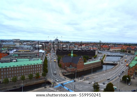 Aerial View of Copenhagen #559950241