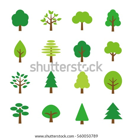 Tree icon set #560050789