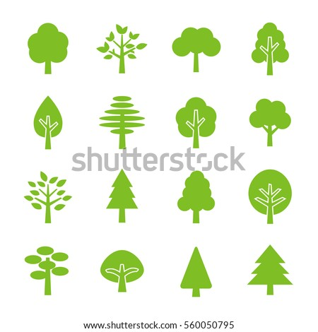 Tree icon set #560050795