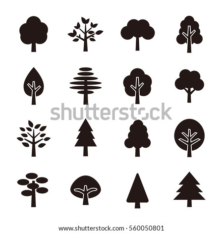 Tree icon set Royalty-Free Stock Photo #560050801