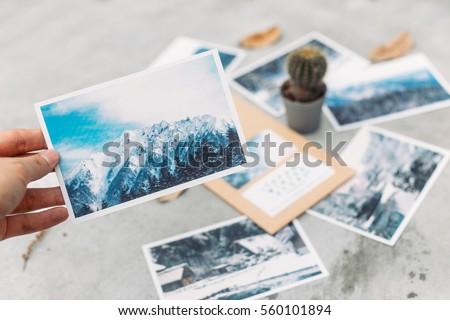 Japan Winter Postcard Royalty-Free Stock Photo #560101894