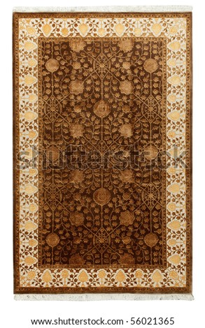 Handmade Carpet on a white background #56021365