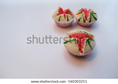 White, pink marshmallow is commonly used in Chinese New Year. #560303251