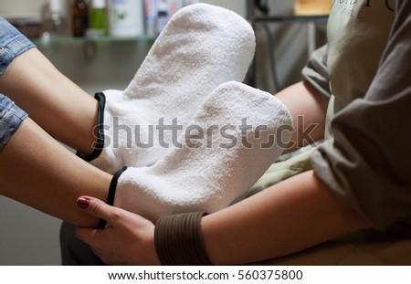 Female feet pedicure in Cabinet #560375800
