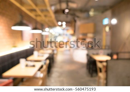 Blurred background image of japan restaurant #560475193