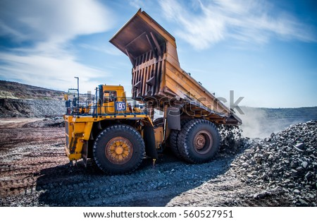 Processes of extraction of iron ore in mine #560527951
