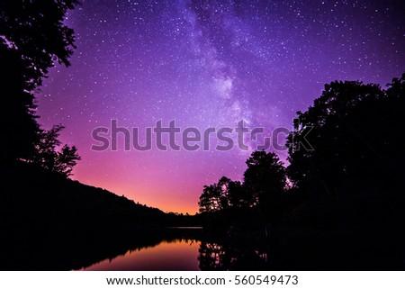 Milky way at Bass Lake #560549473