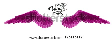 angel wings, lettering, drawing #560550556