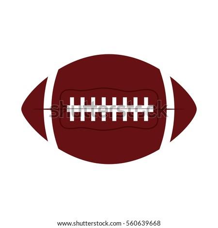 ball american football oval icon vector illustration eps 10