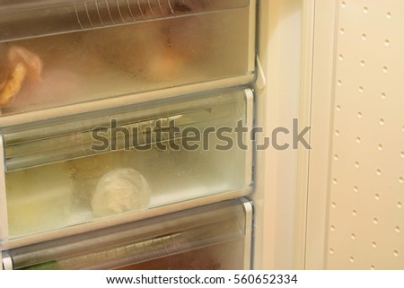 Freezer domestic refrigerator at home #560652334