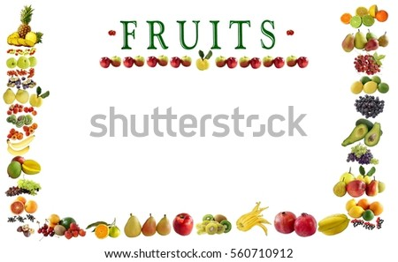 set of various fruit as background #560710912